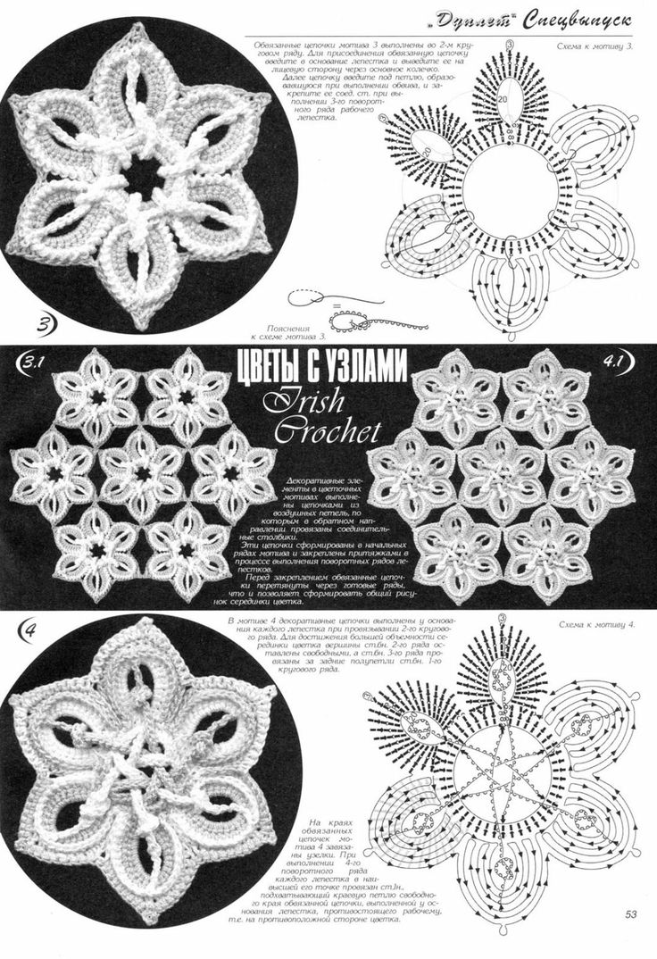 irish crochet motifs                                                                                                                                                                                 Mehr