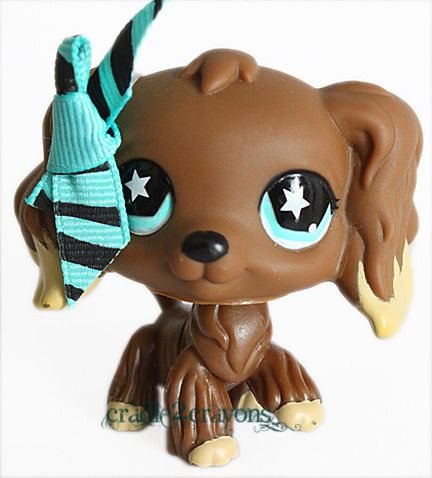 Littlest Pet Shop ♥ LPS ♥ CHOCOLATE BROWN COCKER SPANIEL DOG STAR EYES # 960    Price: US $21.88