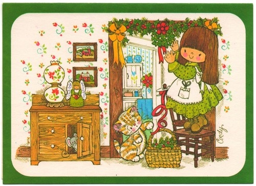 Image result for vintage 1970's xmas cards 1970's