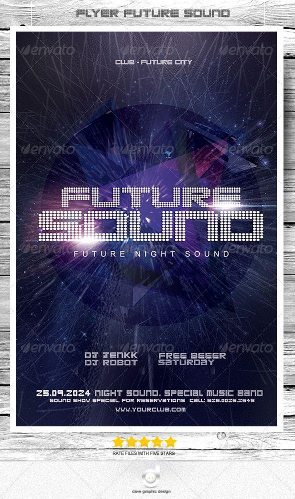 Flyer Future Sound Night Flyer, Night, Information graphics
