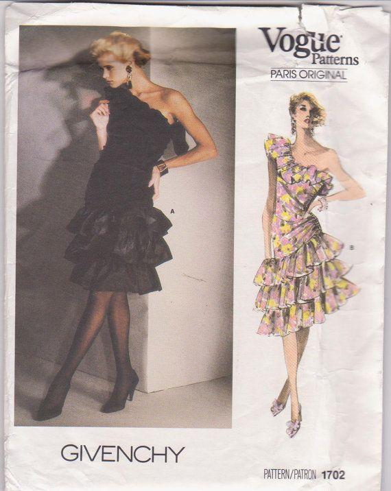 1980s 1702 Vogue Zc Sewing Patterns Wedding Formal