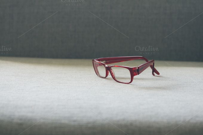 Optical red glasses by OSORIOartist on Creative Market