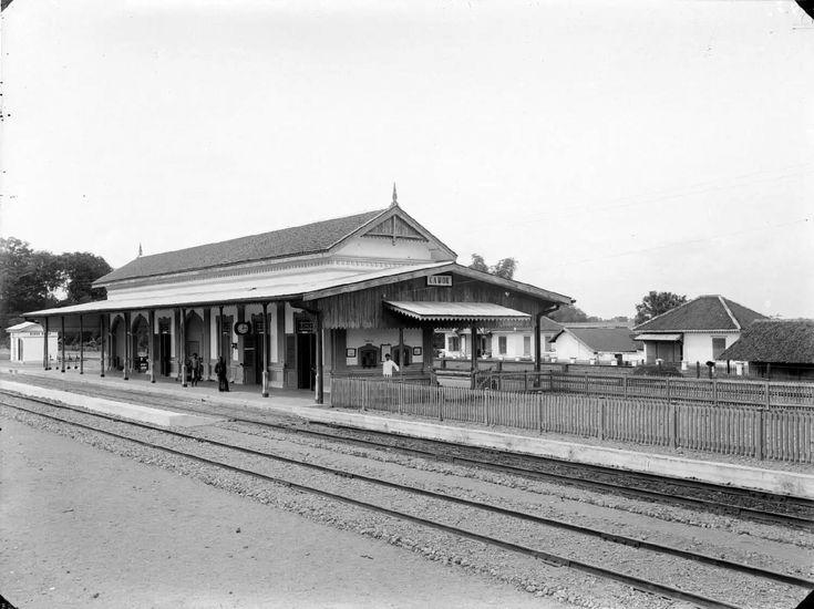 Station Gawok, Residentie Soerakarta. 1910-1930