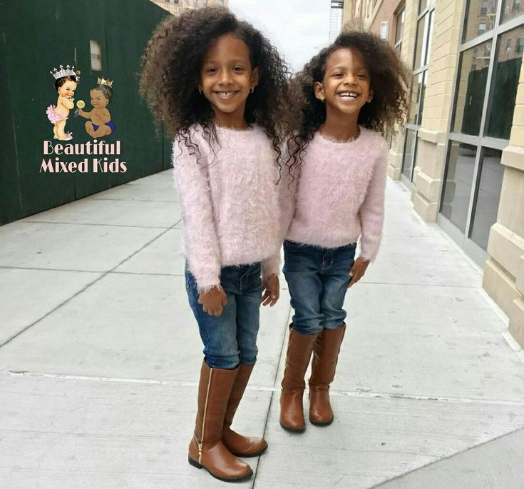 Amara & Juliet - 5 Years • Mom: Honduran & Ecuadorian • Dad: Puerto Rican & African American ❤❤