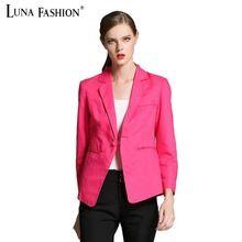 5XL 4XL blaser tallas grandes para mujer chaquetas 2015 del resorte americanas mujer para mujer de los trajes del azul real de la chaqueta de color rosa para mujer de la chaqueta blazers(China (Mainland))