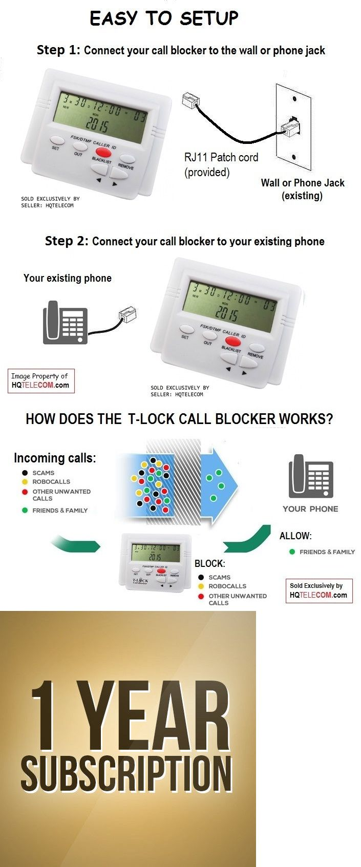 VoIP Phone Adapters 99269: Universal Pro Call Blocker - Compatible