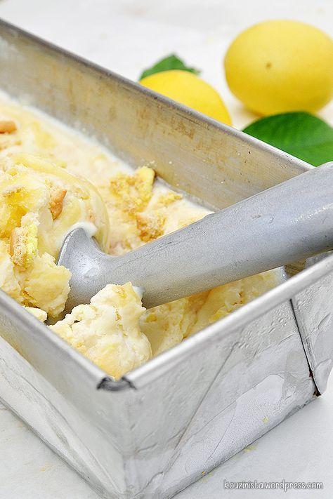 Παγωτό lemon pie xωρίς παγωτομηχανή/No-churn lemon pie ice cream