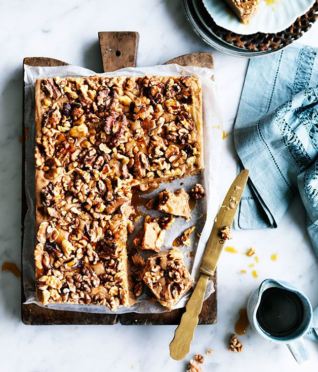 Recipe for walnut, maple and milk chocolate fudge by Nadine Ingram from Sydney's Flour & Stone bakery.