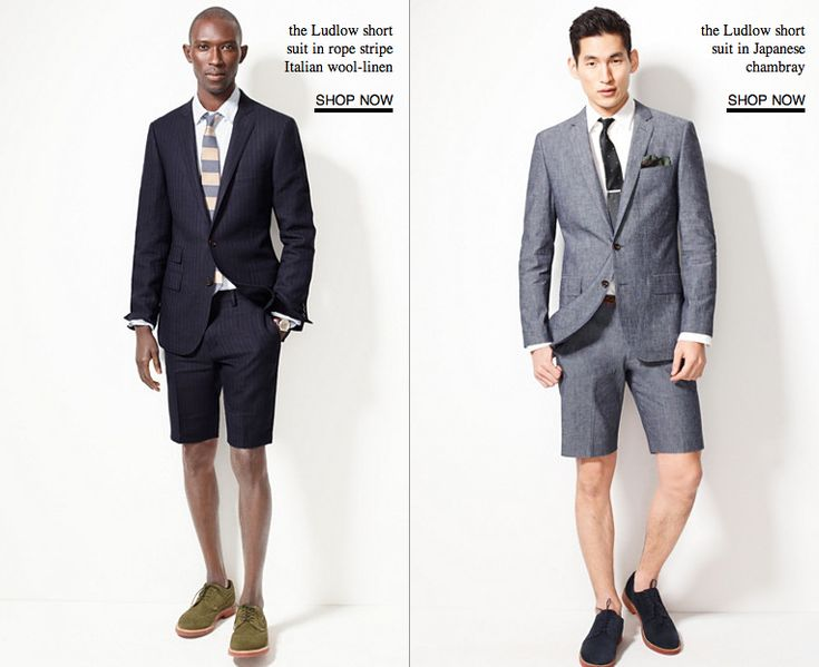 """The """"short suit"""" is going mainstream — what do you think of the trend?"""