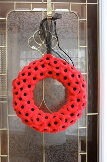 Poppy wreath for Remembrance Day