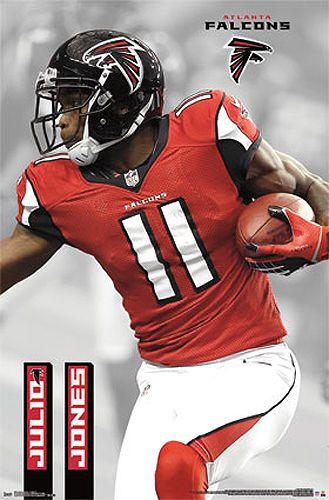 Julio Jones Atlanta Falcons Wide Receiver Football Superstar Nfl Wall Poster Atlanta Falcons Poster Atlanta Falcons Football Atlanta Falcons