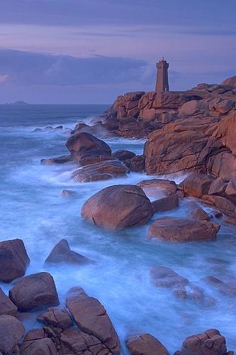 Menraz Lighthouse, Perros Guirec, Brittany