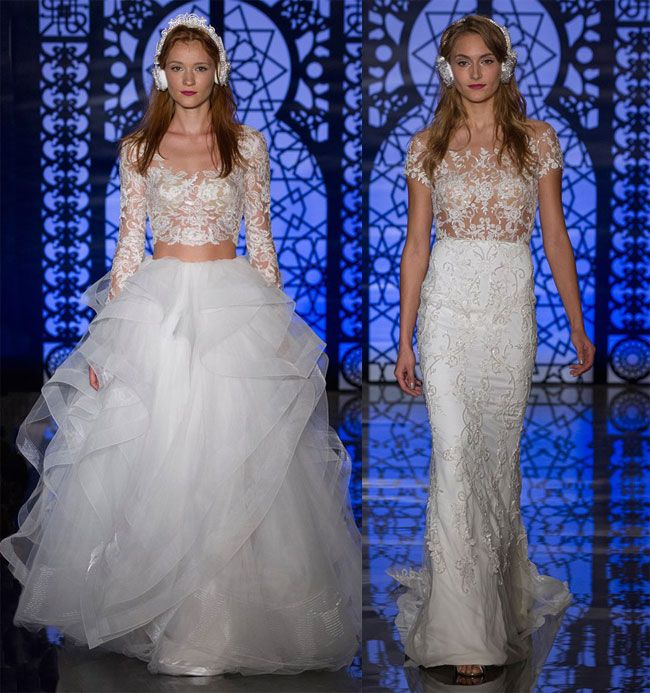 Abiti da sposa 2016: Accessori insoliti Reem Acra collection fall