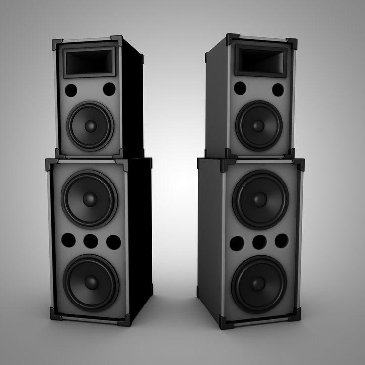 3D Model Speakers - 3D Model