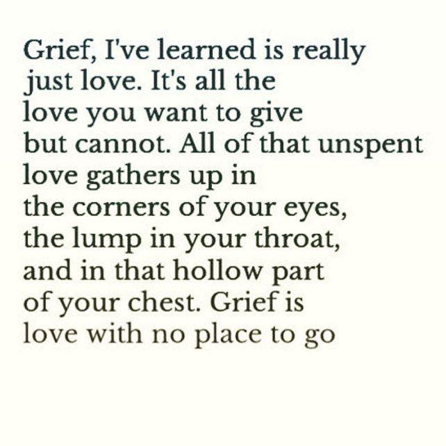 Image result for grief I've learned