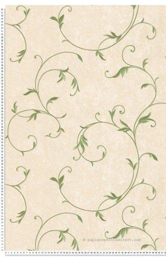 Feuillage classique satiné olive - Papier peint Romantica 3 d'AS Création
