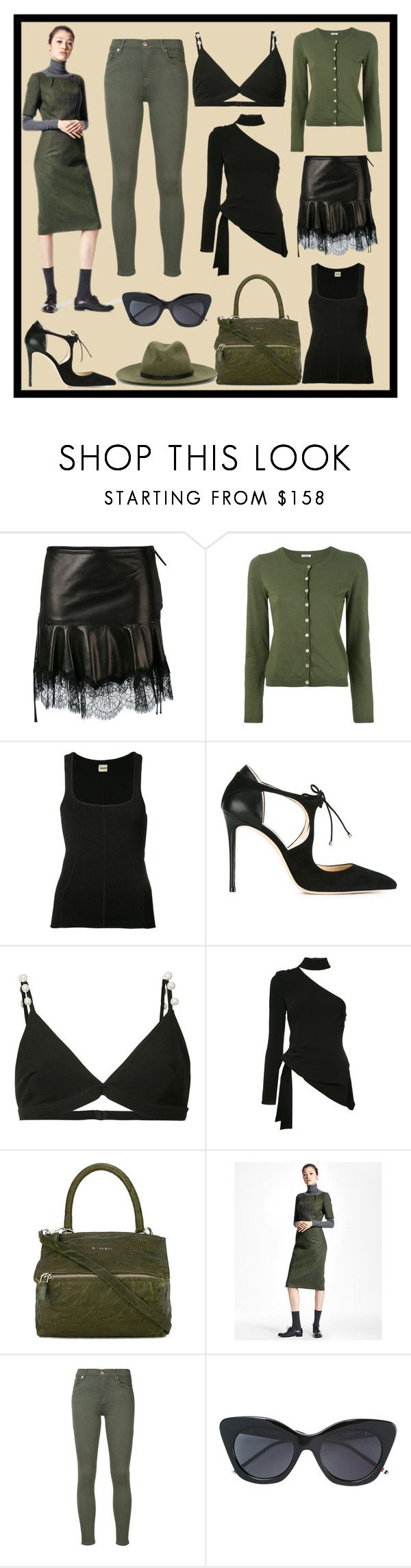 """Promotional Sale"" by cate-jennifer ❤ liked on Polyvore featuring Roberto Cavalli, P.A.R.O.S.H., Khaite, Jimmy Choo, Givenchy, Cinq à Sept, Brooks Brothers, 7 For All Mankind, Thom Browne and rag & bone"