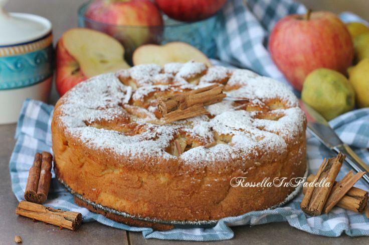 Torta di mele all'acqua, ricetta soffice senza burro. Soffice soffice come una nuvola, leggera e molto buona la torta di mele all'acqua.
