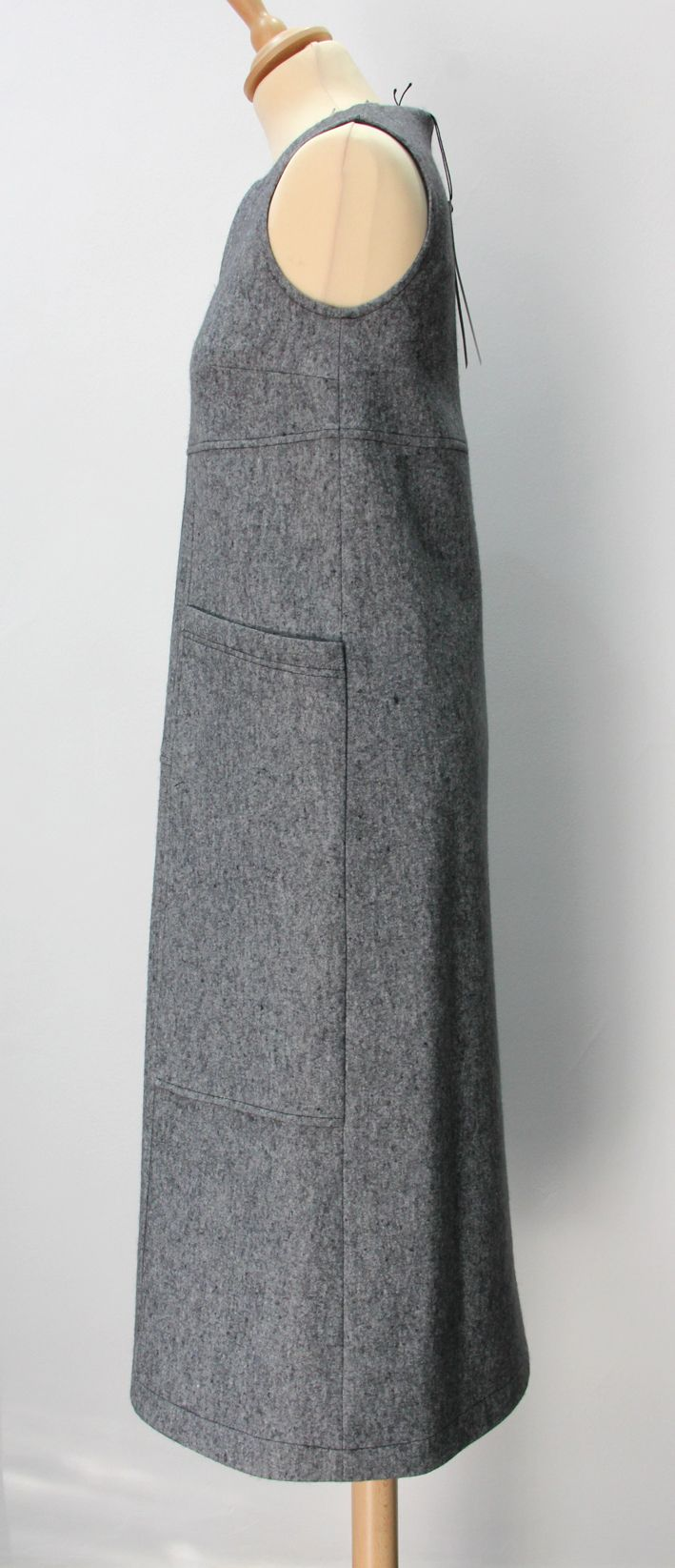 grey sarafan dress. Wool and cotton, warm and trendy!
