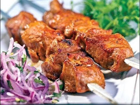 Мягкий Шашлык из говядины рецепт - YouTube