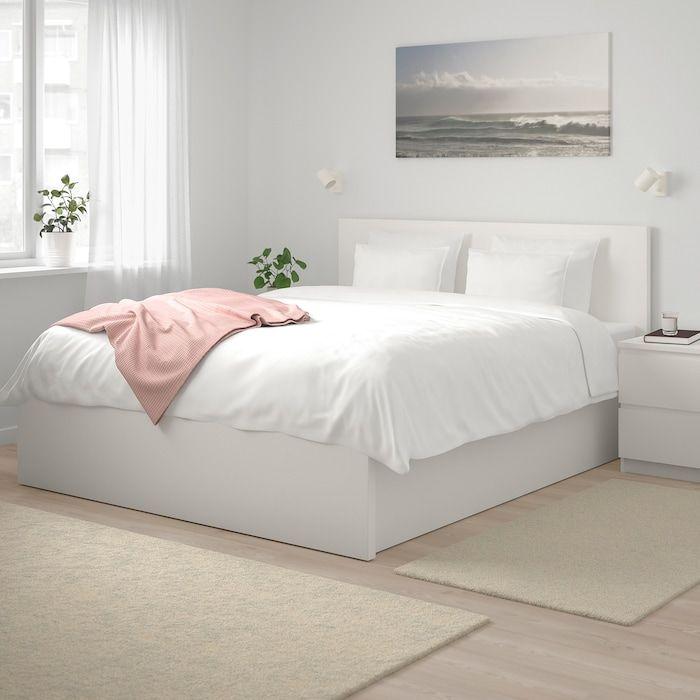 Malm Bedframe Met Opbergruimte Wit 140x200 Cm Ikea In 2020 White Bed Frame Malm Bed Frame Bed Frame With Storage