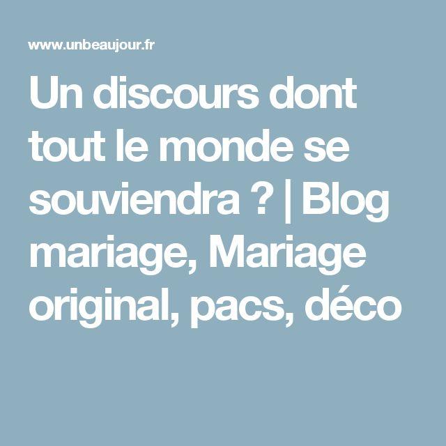 un discours dont tout le monde se souviendra blog mariage mariage original - Discours De Remerciement Mariage