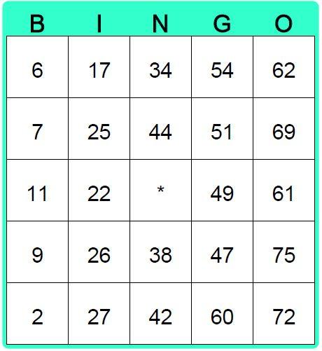 Create Blank Bingo Cards
