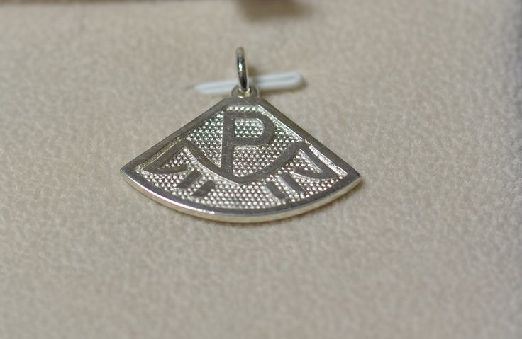 Sterling silver horse stud logo pendant