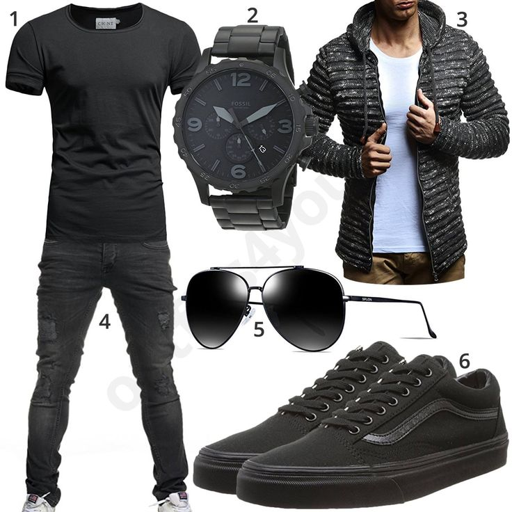 Black men's style with glasses, zip-hoodie and shirt