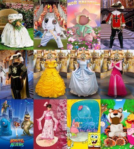 Праздничные костюмы для фотошопа