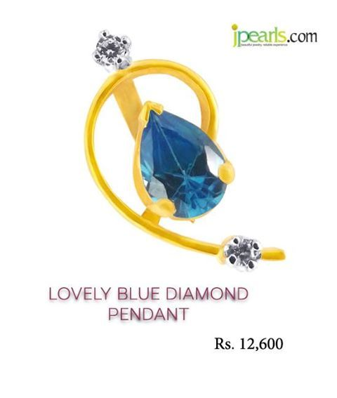Perfect GIFT for My Sister for this Raksha Bandhan GIFT HER NOW http://www.jpearls.com/Products/Rakhi-and-Gifts-Gifts-To-Sister/Jpearls/JPEARLS-LOVELY-BLUE-DIAMOND-PENDANT-/pid-3462557.aspx