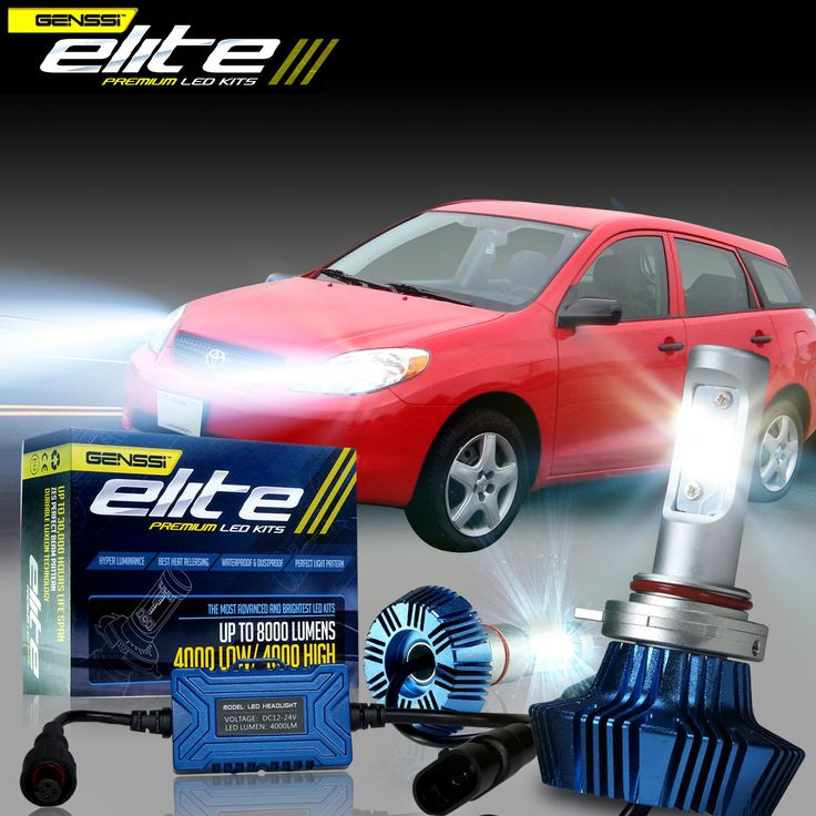 Toyota Matrix LED headlight kit bulbs brightest - Click to learn more!