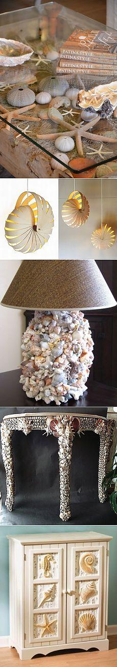 58 идей для мебели и украшения с морской тематикой.
