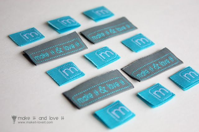 Clothing Labels…..by the 100′s | Make It and Love It  NOT diy, but cute