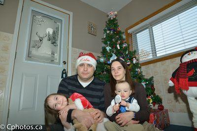 Family Christmas Pose.