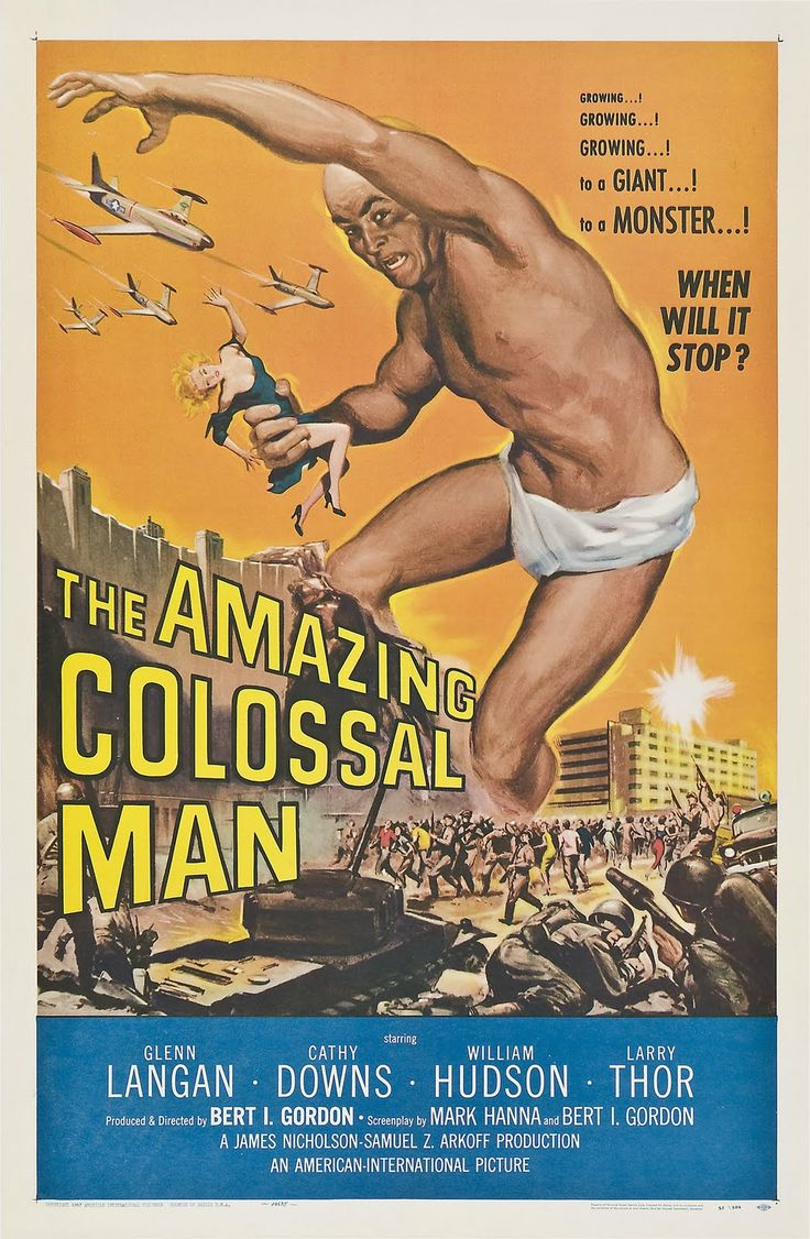 Oh you gotta love those B-Movies from the Late Fifties... especially this one where ENORMOUS star runs around with nothing on but a diaper.