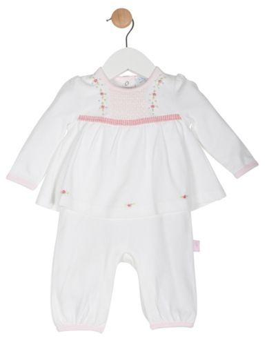 Stunning-Baby-Girls-Rosebuds-Smocked-Babygrow-Romany-Spanish-Style-Outfit