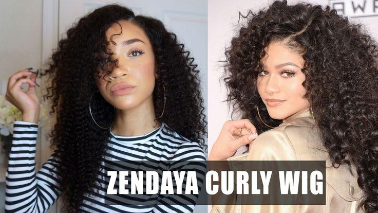 Zendaya Hairstyles Braids: Big Curly Lace Wig - Zendaya AMAs Inspired
