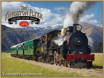 One of the worlds most unique Train businesses is for sale near Queenstown, Central Otago, New Zealand. The Kingstion Flyer train and hospitality Freehold business is situated in the township of Kingston and is situated on State Highway 6 on the route to Milford Sound.
