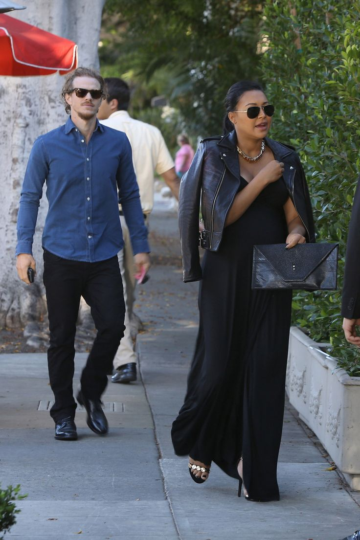 Naya Rivera and Ryan Dorsey have dinner at Il Cielo in Beverly Hills