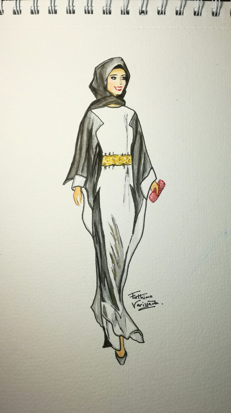 Islamic Attire #watercolour #hijab #fashion