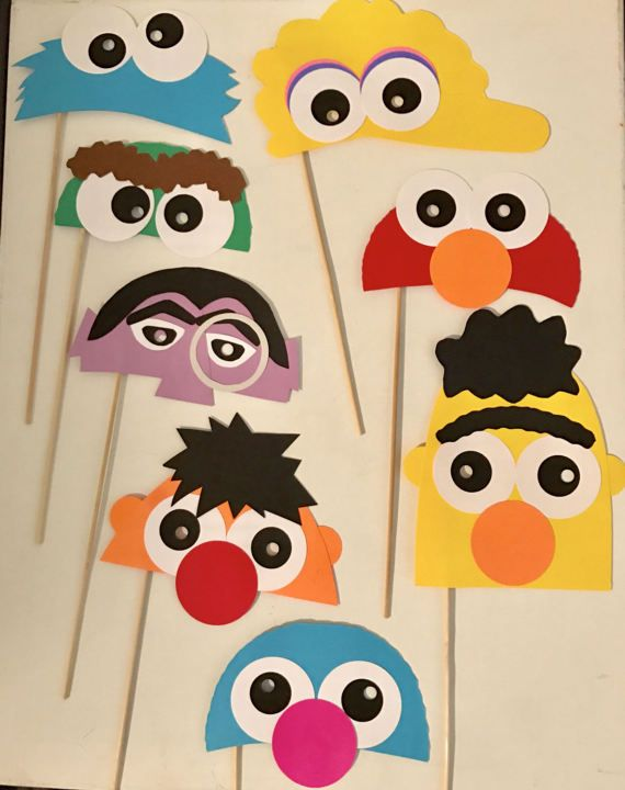 Ultimate Sesame Street birthday photo prop by thepreschooljournal Sesame Street photo props!!