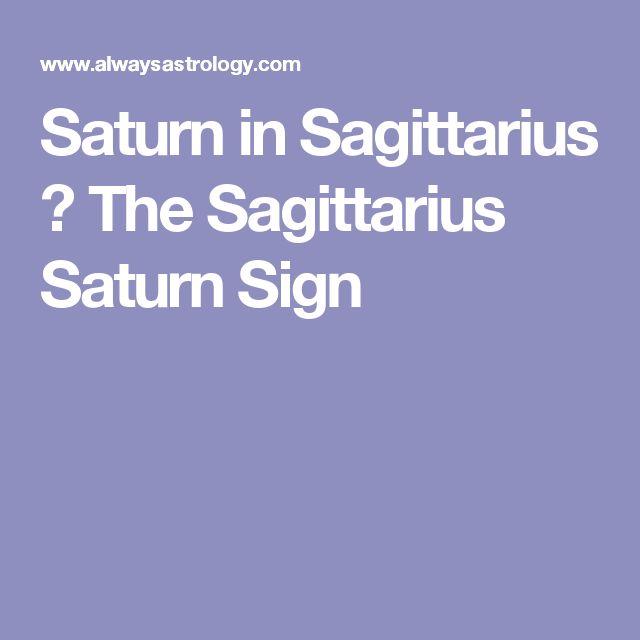 Saturn in Sagittarius – The Sagittarius Saturn Sign