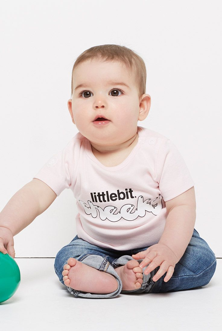 Your little ones will love their #littlebit basic tees and onsies. They make the perfect baby gifts. Also available in pale blue, grey marle and white. Shop the entire #littlebit range of #babyclothing #babytees at littlebit.com/baby. #cute #onsies #jumpsuits #tees #baby #onepiece #babyboy #babygirl #babybasics #basics