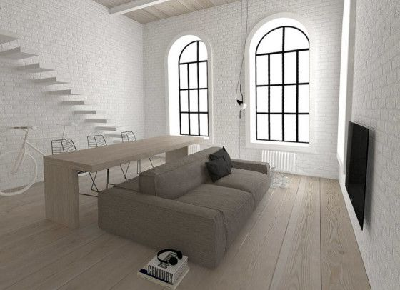 Diseño de sala comedor de minidepartamento