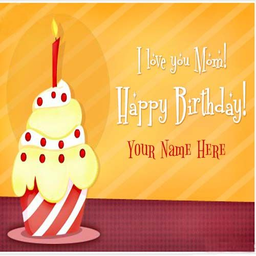 I Love You Mom Happy Birthday Wishes Cards. #happybirthday #birthdaycard #greetingcard