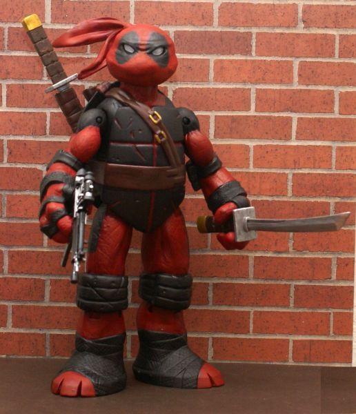 Teenage Mutant Ninja Turtle Deadpool Custom Action Figure! I need one of these.