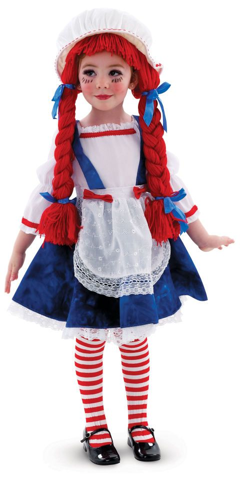If you thought you were too old to play with a Raggedy Ann doll, think again. Yarn Babies Rag Doll Girl Toddler/Child Costume, $24.99, Buy Costumes.
