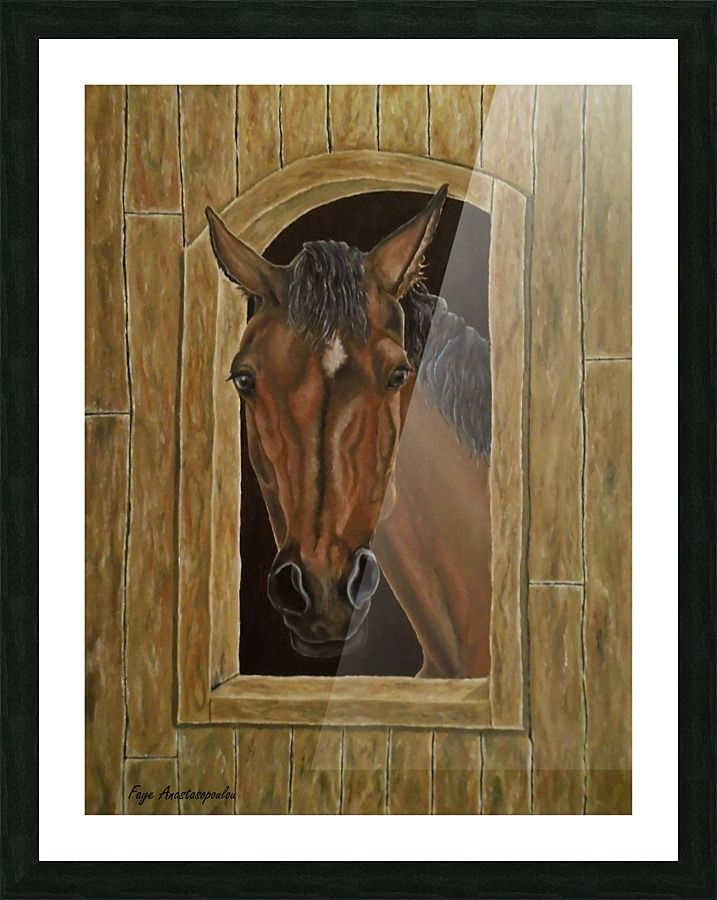 Framed, print, painting, art, horse, equine, portrait, stallion, western, animal, posing,wildlife, realism, contemporary, figurative, modern, earthly colors, brown, wall art, wall decor, decorative items, for sale, pictorem