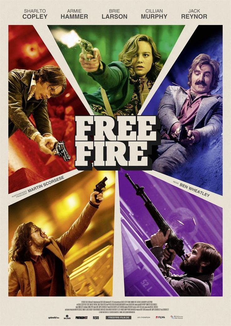 Free Fire Movie Poster with Sharlto CopleyArmie HammerBrie Larson and Cillian Murphy http://ift.tt/2lSgJZg